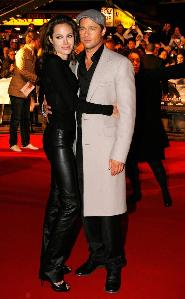 Beowulf London Premiere, November 2007 from Brad Pitt & Angelina Jolie: Romance Recap  They do it again! Black appears to be the go-to color for any red carpet event.