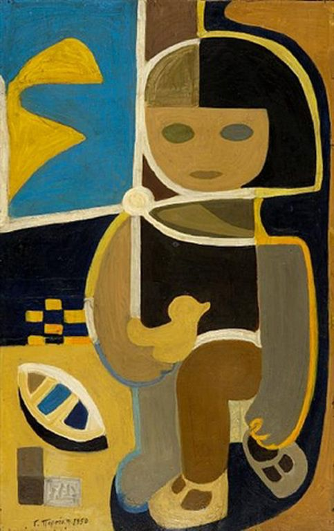 Περσάκη Γιάννα – Gianna Persaki [1921-2008] Little girl with toys, 1950