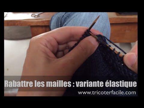 Rabattre les mailles pour une bordure élastique - YouTube