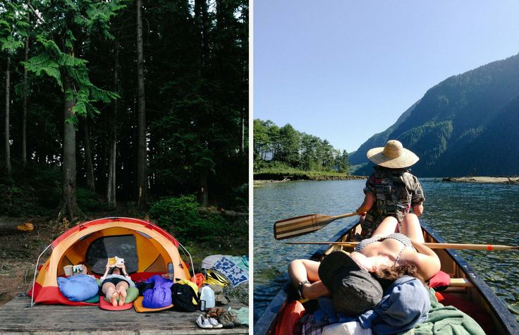 Camping and canoeing, Vancouver, BC