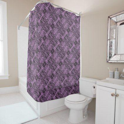 Aluminum Foil Design In Lavender Shower Curtain   Metal Style Gift Ideas  Unique Diy Personalize