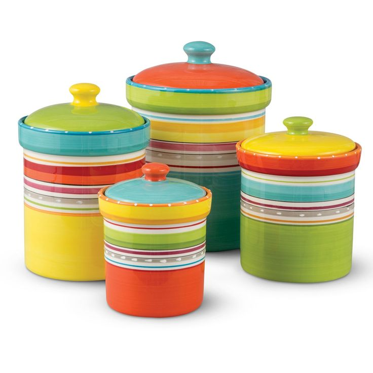 These Kitchen Storage Canisters Are A Fiesta Times 4