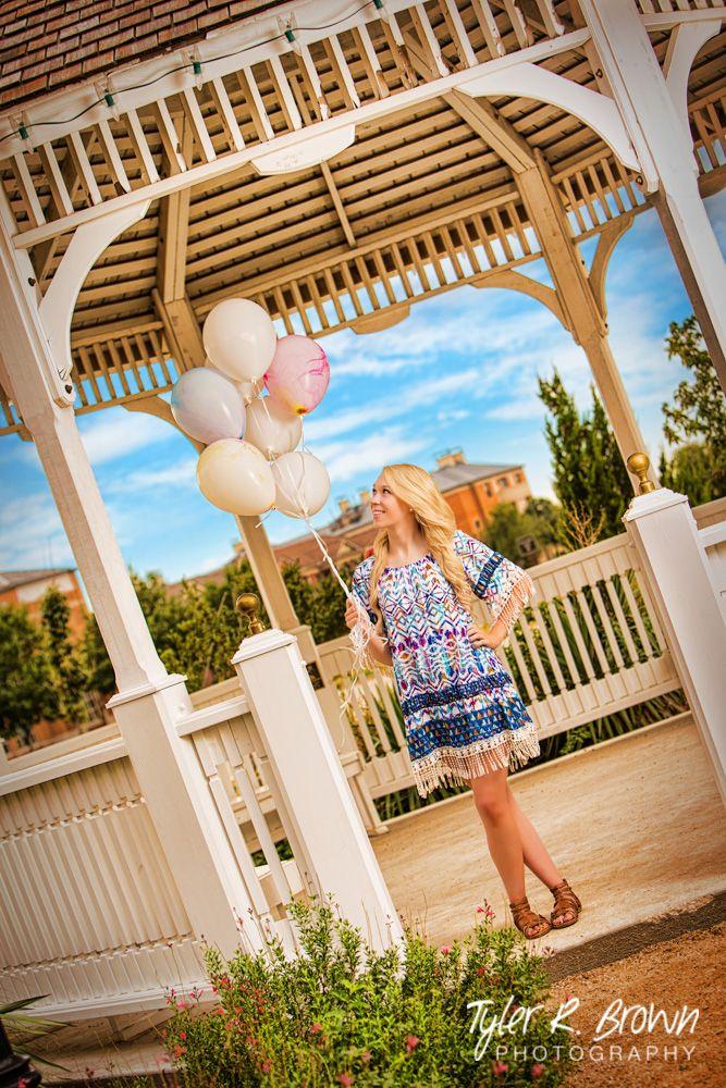 lyssastevens - Liberty Christian High School - Balloons - Gazebo - Summer - Sunny - Senior Portraits - #seniorpics - Sweet - Tie-dye - Frisco Square - Babes - Tyler R. Brown Photography