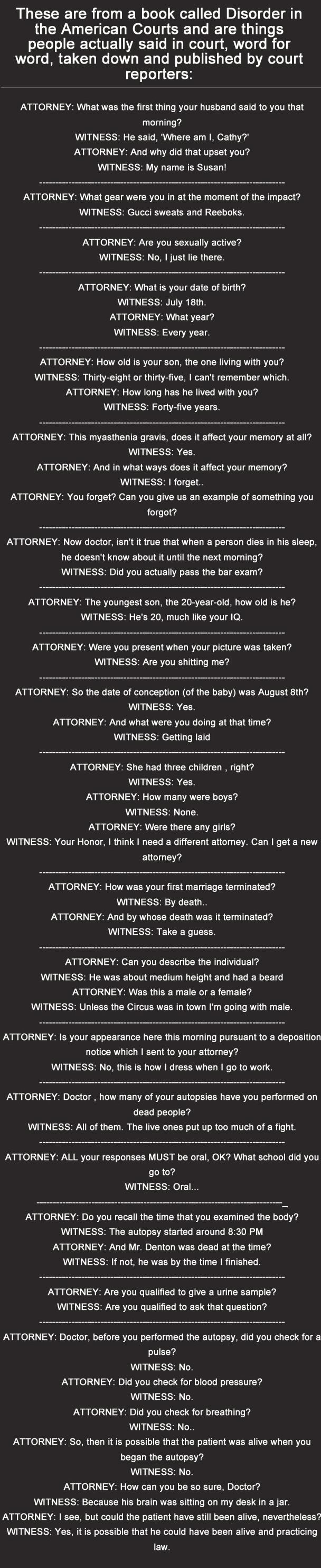 Things said in court