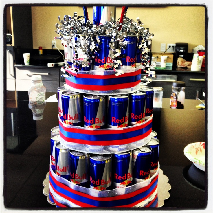 Red Bull Cake. I would go crazy. This is the most beautiful thing I've ever seen.
