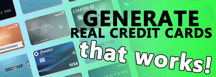 Generate credit card number with money in 2020 virtual
