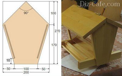 Изготовление деревянной кормушки