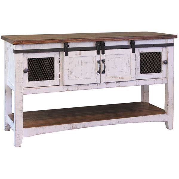 Pueblo White Sofa Table by Artisan Home by IFD is now available at American Furniture Warehouse. Shop our great selection and save!