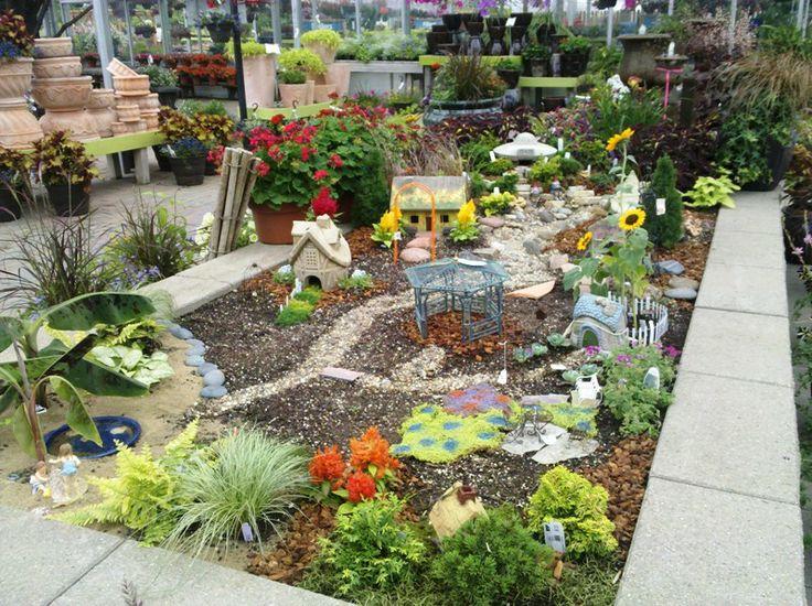 backyard fairy garden village