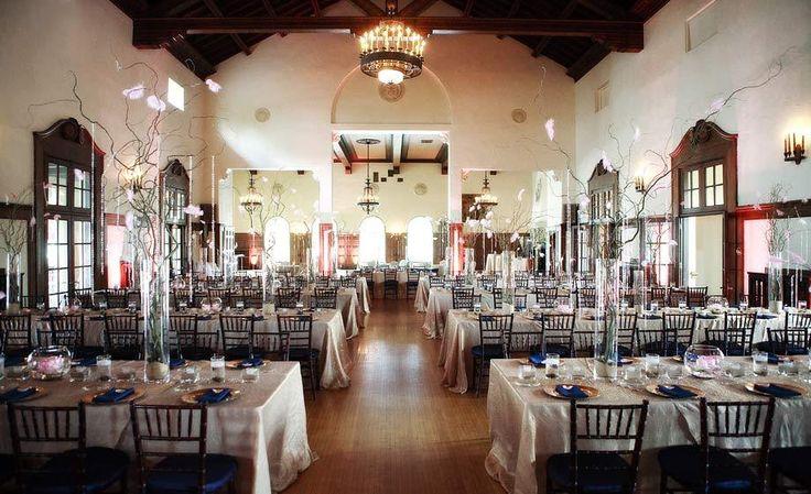 Detroit Yacht Club Wedding Photos Neutral Colors Interesting Centerpieces