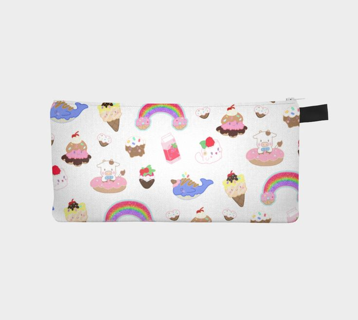 "Pencil+case+""Kawaii+Dessert+Animals""+by+Candy+&+Stardust+Shop"
