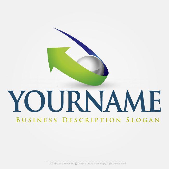 Online Logo Creator – Design 3D Arrow Logo Template