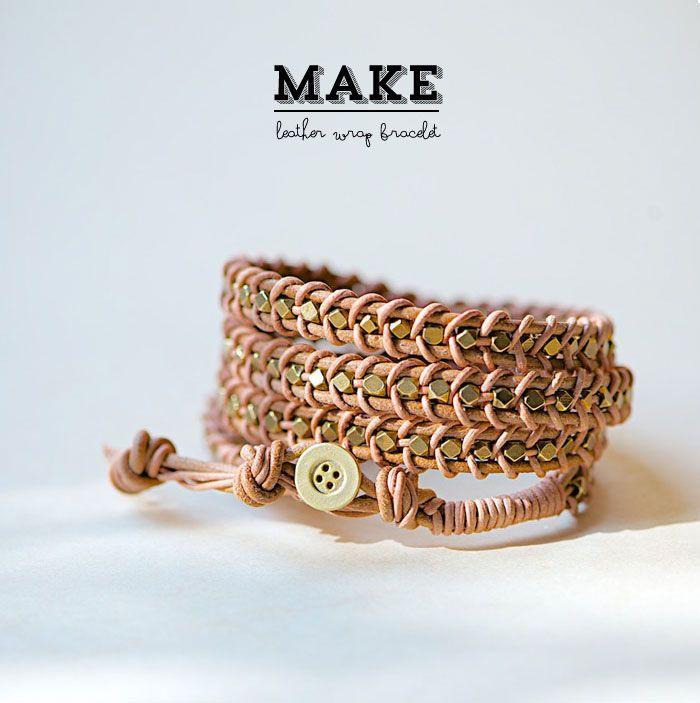 Poppytalk: DIY   Leather Wrap Bracelet