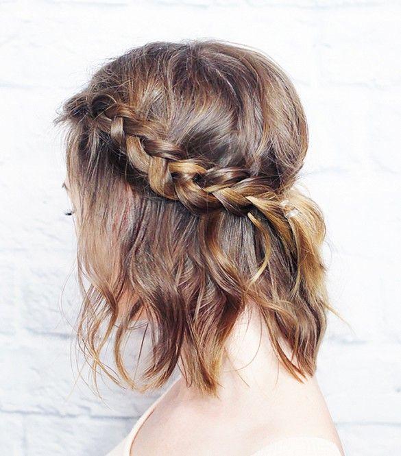 Neste long bob, a tiara de trança (com trança holandesa, a embutida inversa) deu charme ao penteado e volume ao topo da cabeça.