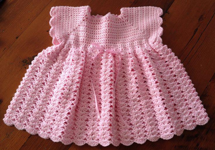 Crochet 4ply cotton dress.