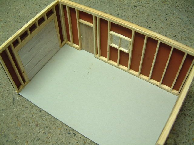 Scale Model Garage for cars in 1/25 scale