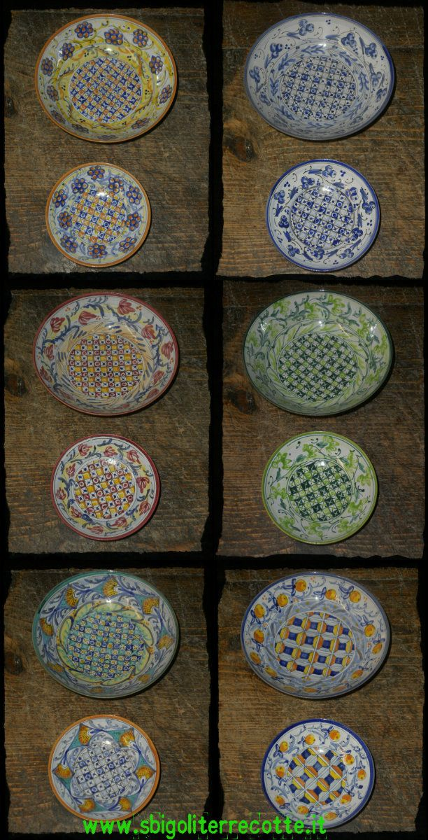 thin bowls assorted patterns - pick your own... www.sbigoliterrecotte.it