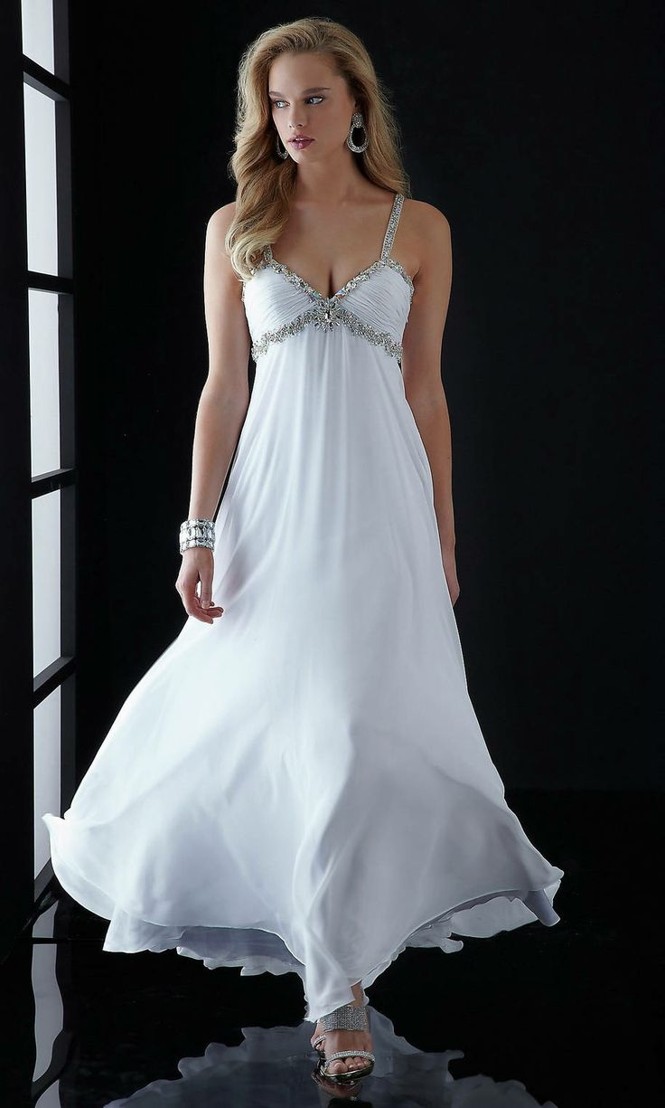 48 best White Prom Dresses images on Pinterest | Party wear dresses ...