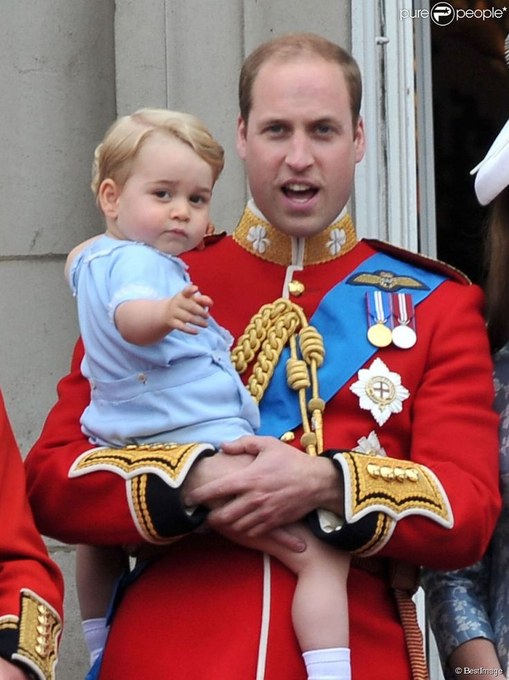 prince william avec le prince Georges