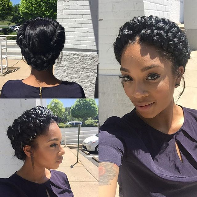 braids styles with natural hair halo braid fishtail atlantahairstylist atlantahair 4362 | 511d0a0f587138dbb7f4a5a2178ed74f halo braid natural hair styles