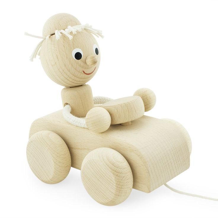 Wooden Pull Along Car - Pete