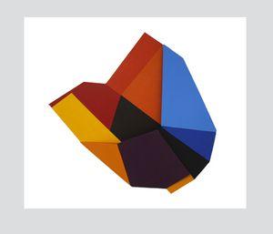 Caroline Karlsson Vessel 2011, Acrylic on Board 91 x 90 x 10 cm