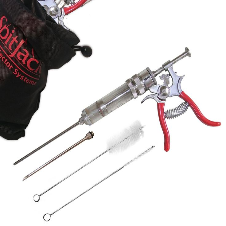 The SpitJack Magnum Meat Injector Gun (with 2 needles)