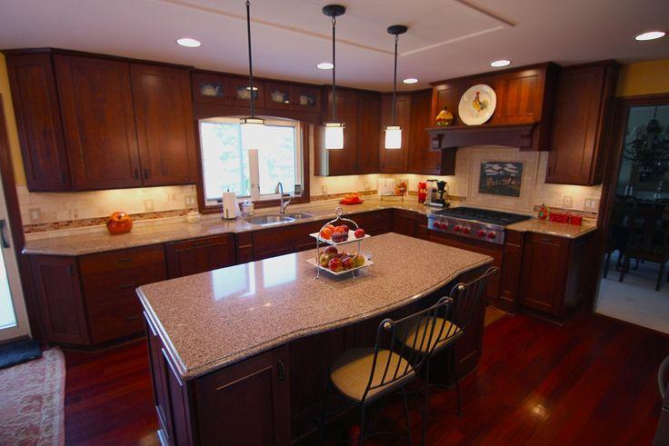 Dura Supreme Crestwood Kitchen With Dura Designer Hutch Area Designed By  Mans Lumber Kitchen U0026 Bath