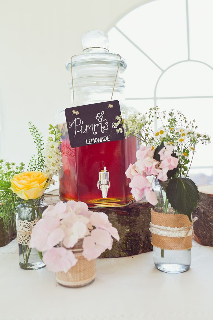Pimms Drinks Bar Super Pretty Candy Coloured Country Marquee Wedding http://www.carlybevan.co.uk/