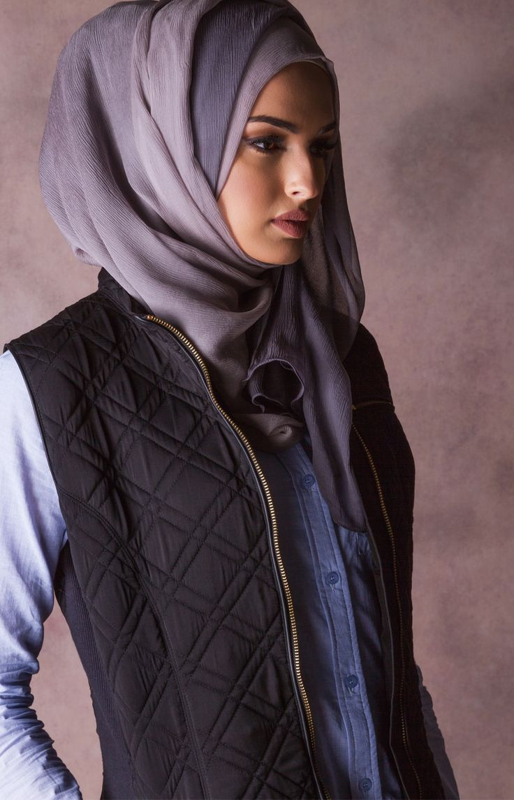 Leather jacket hijab - Quilted Gilet
