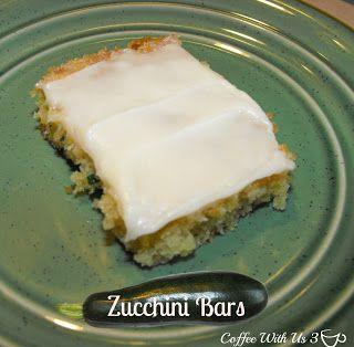 Decadent Zucchini Bars- a moist, delicious cake bar #zucchini #bars