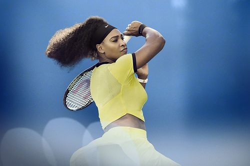 Crop top about to conquer Tennis. Serena Williams Nike 2016 Australian Open outfit