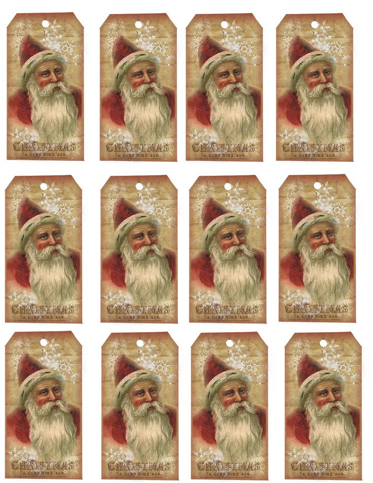 2378 best printables images on pinterest bakery kitchen kitchen crows creek primitives freebie vintage santa hang tag sheet negle Image collections