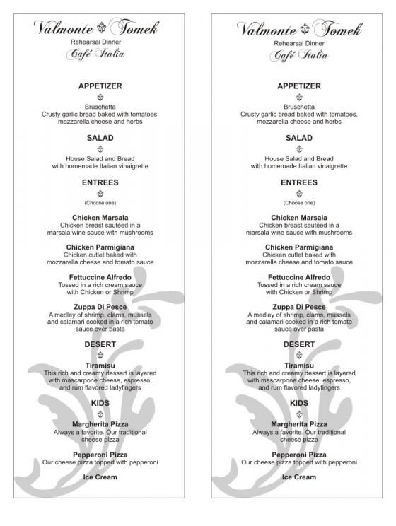 Wedding program templates free menu templates or ideas wedding announcer forums wedding for Wedding reception program template free