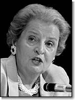 Madeline Albright, 1st Female Secretary of State