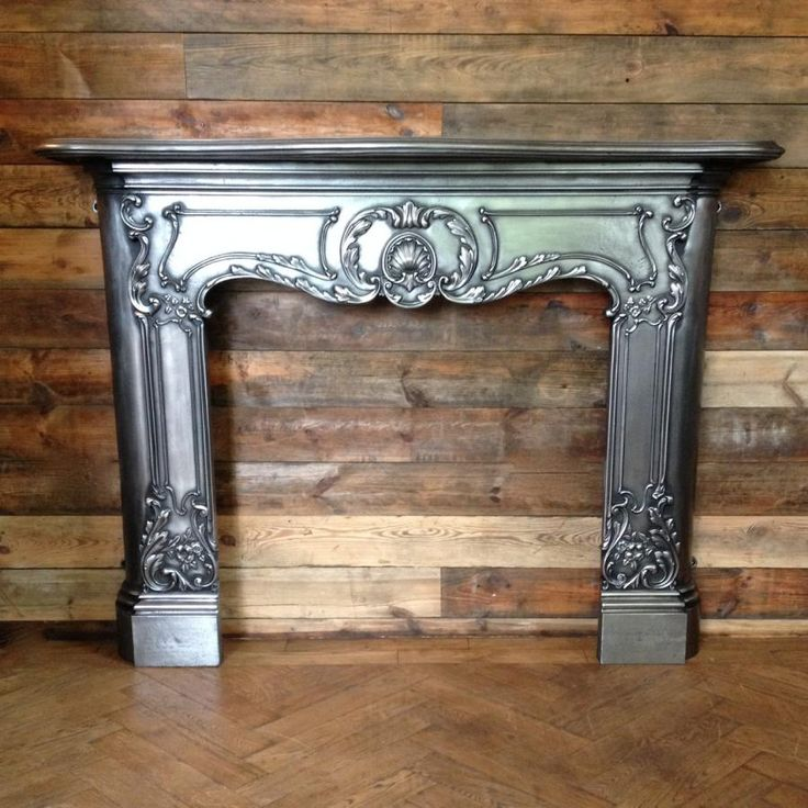 Reclaimed spectacular cast iron fireplace surround in the Louis XV style for  sale on SalvoWEB from - 17 Best Images About Fireplaces - Reclaimed & Antique For Sale On