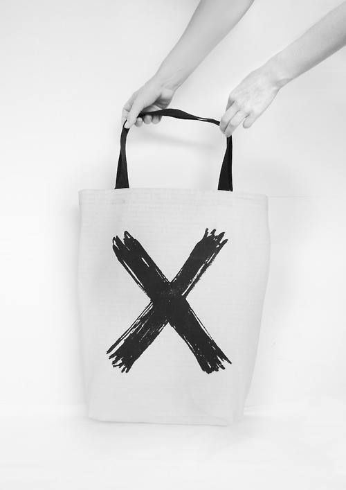 Deletion | Screen printed eco-friendly bag | by BAGNANAS