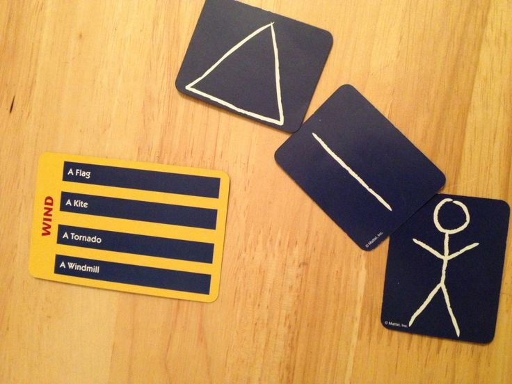 Pictionary Card Game - fantastic for practicing categories and abstract thinking skills.