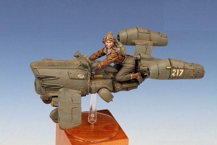 FREE SHIPPING 1/35 Resin Figure Model Kit S.H.E. Mucke (Spionage Hybrid Einheit) #Unbranded