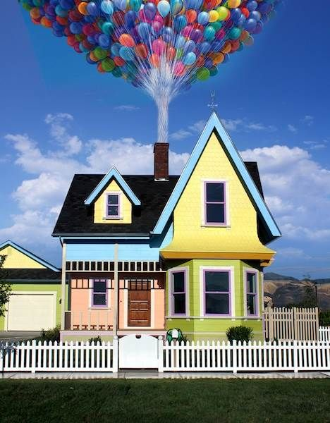 A full scale replica of Carl & Ellie's house from Up in Utah. Definitely have to go see this!