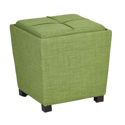 Green 2 Piece Ottoman Set With Tray Top Ottoman Set Storage