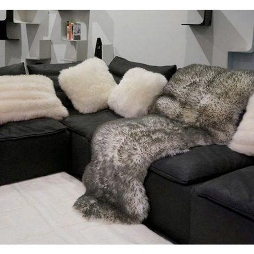 New 100 Genuine Zealand Grey Tipped Extra Large Sheepskin Rug 180 X 75
