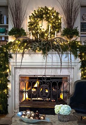 Fireplace Mantle Decor for Christmas   Christopher Todd Design.