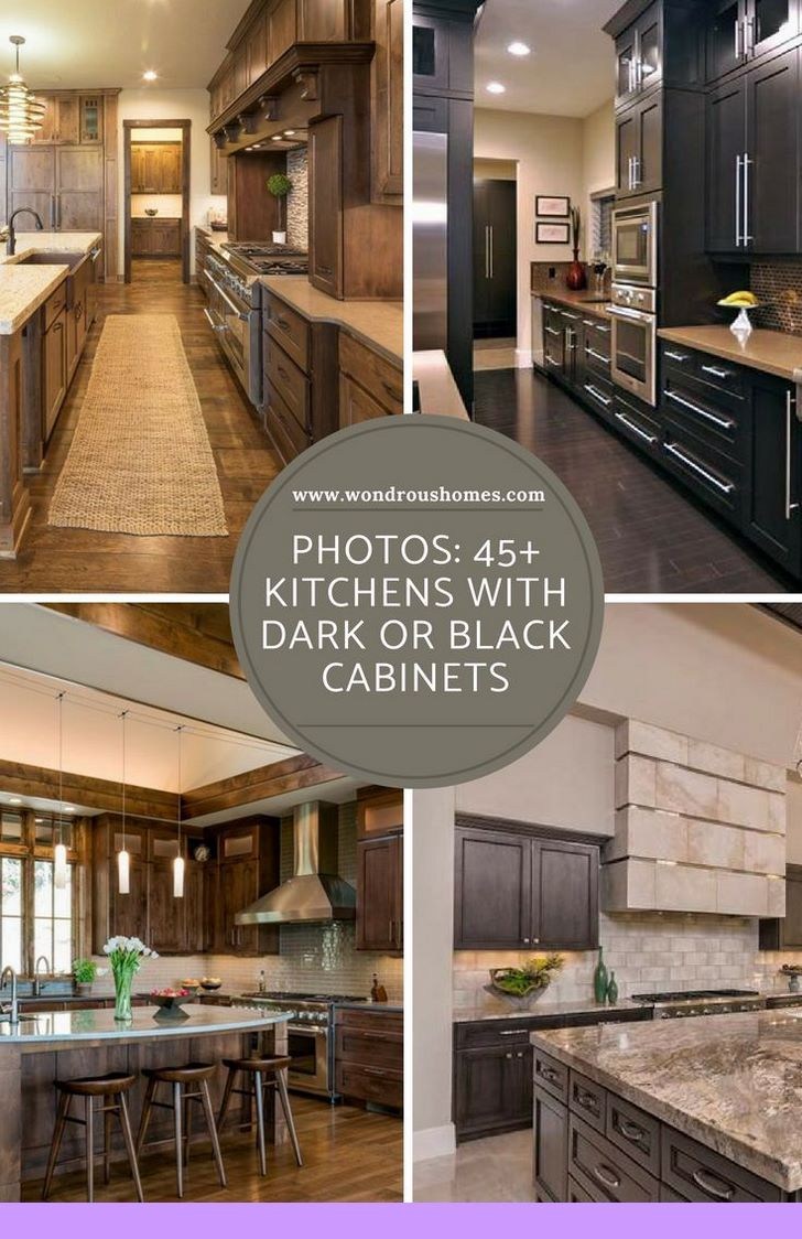 Dark Light Oak Maple Cherry Cabinetry And Barn Wood Kitchen Cabinets For Sale Check The Pin For Brown Kitchen Cabinets Home Decor Kitchen Black Cabinets