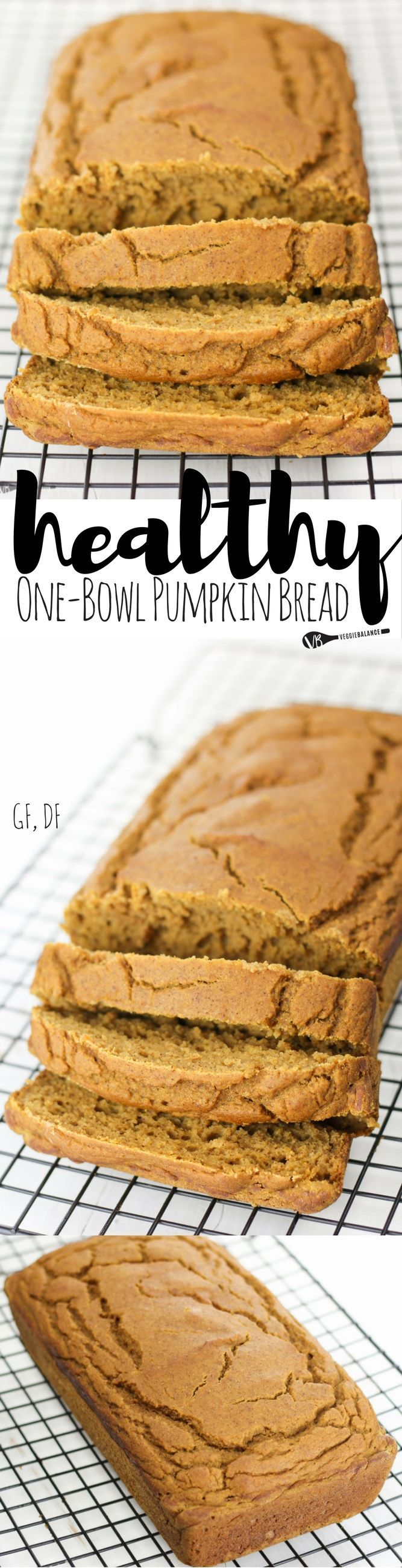 Gluten-Free Pumpkin Bread recipe made healthy! The perfect quick bread made in one-bowl to satisfy those pumpkin cravings. {Gluten-Free, Dairy-Free, Low-Sugar}