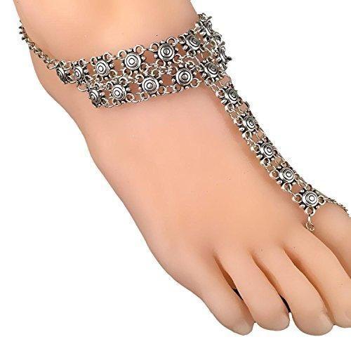 Oferta: 2.2€. Comprar Ofertas de Vintage novia descalzo sandalias playa boda pulsera de tobillo ganchillo tobilleras para las mujeres barato. ¡Mira las ofertas!