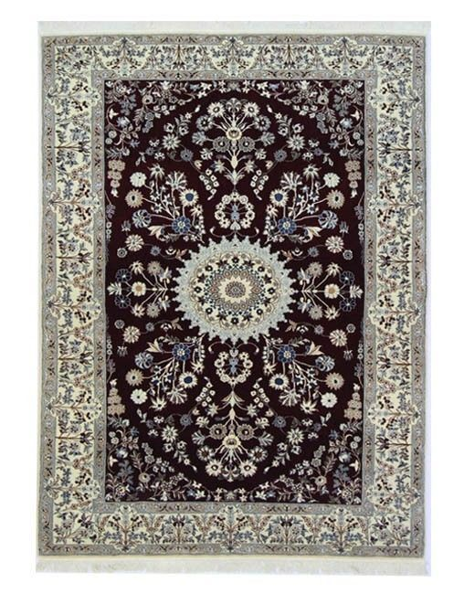 Nain 6la Perser Teppich  Handgeknüpft woll  silk 236x145 cm, tappeto Orient