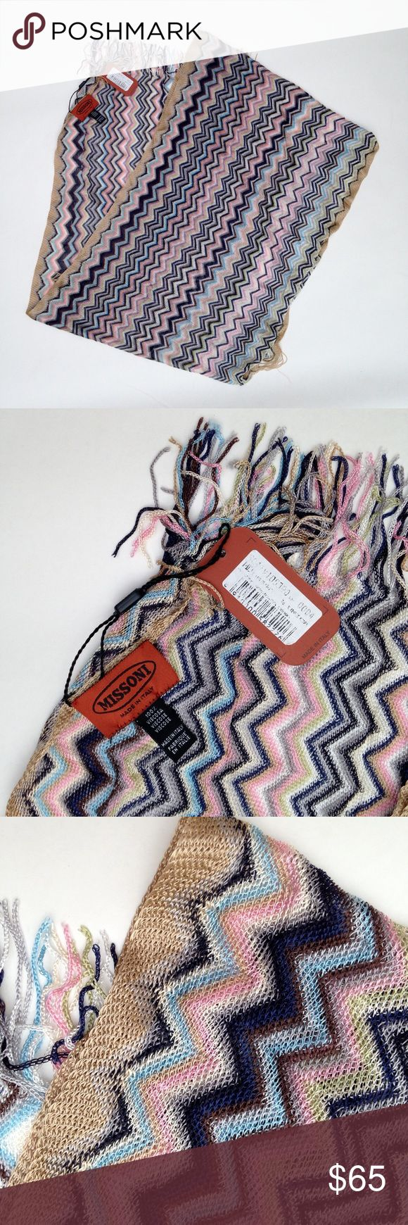 """Missoni scarf, Made in Italy 17"""" wide,  60"""" long, bought in Italy, perfect new condition Missoni Accessories Scarves & Wraps"""