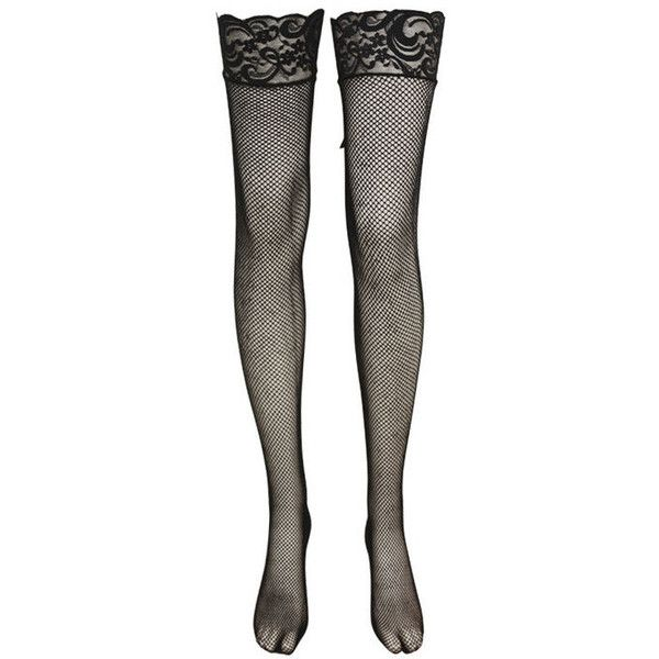 Black Thigh High Net Stocking Lace Up Top (120 ARS) ❤ liked on Polyvore featuring intimates, hosiery, tights, socks, accessories, stockings, lingerie, thigh high tights, lace up stockings and lingerie stockings