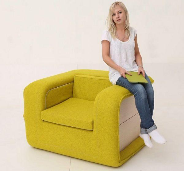 Ohrensessel mit schlaffunktion  Die besten 25+ Sessel gelb Ideen auf Pinterest | Senf wohnzimmer ...